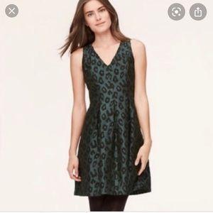 Ann Taylor Loft petites green and black dress